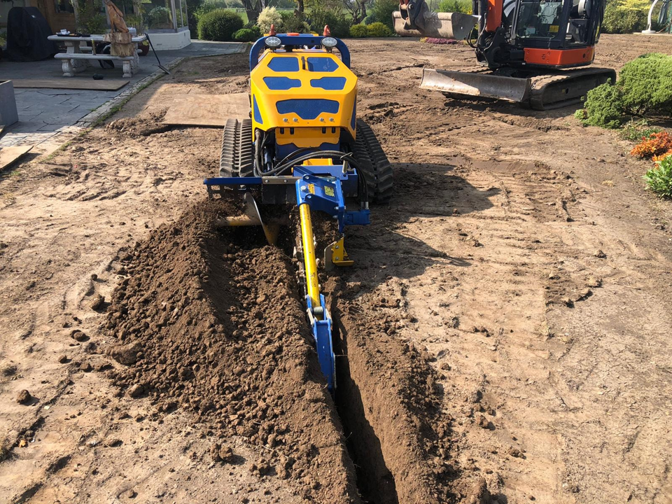 Flailbot with Trencher Attachment