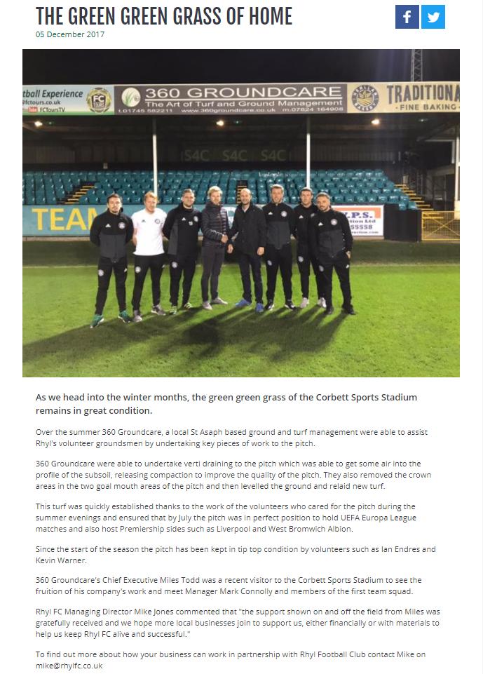 Rhyl FC Article